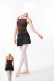 Camisole Leotard with  Attached Skirt